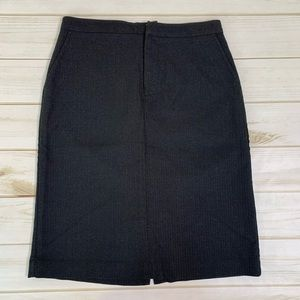 Black pencil skirt with pinstripes by Gap